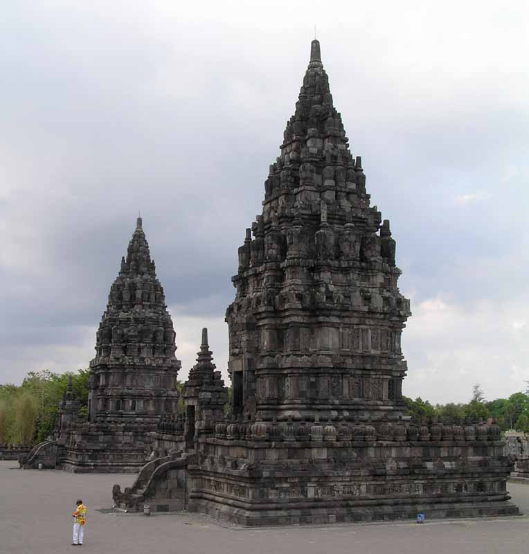 temples at the th c prambanan hindu site in java i downs jim