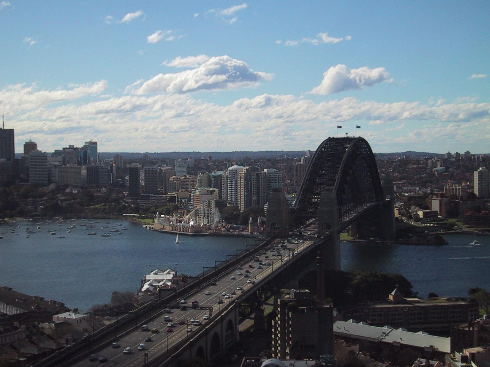 harbor bridge from ana hotel sydney author greens greenspun philip