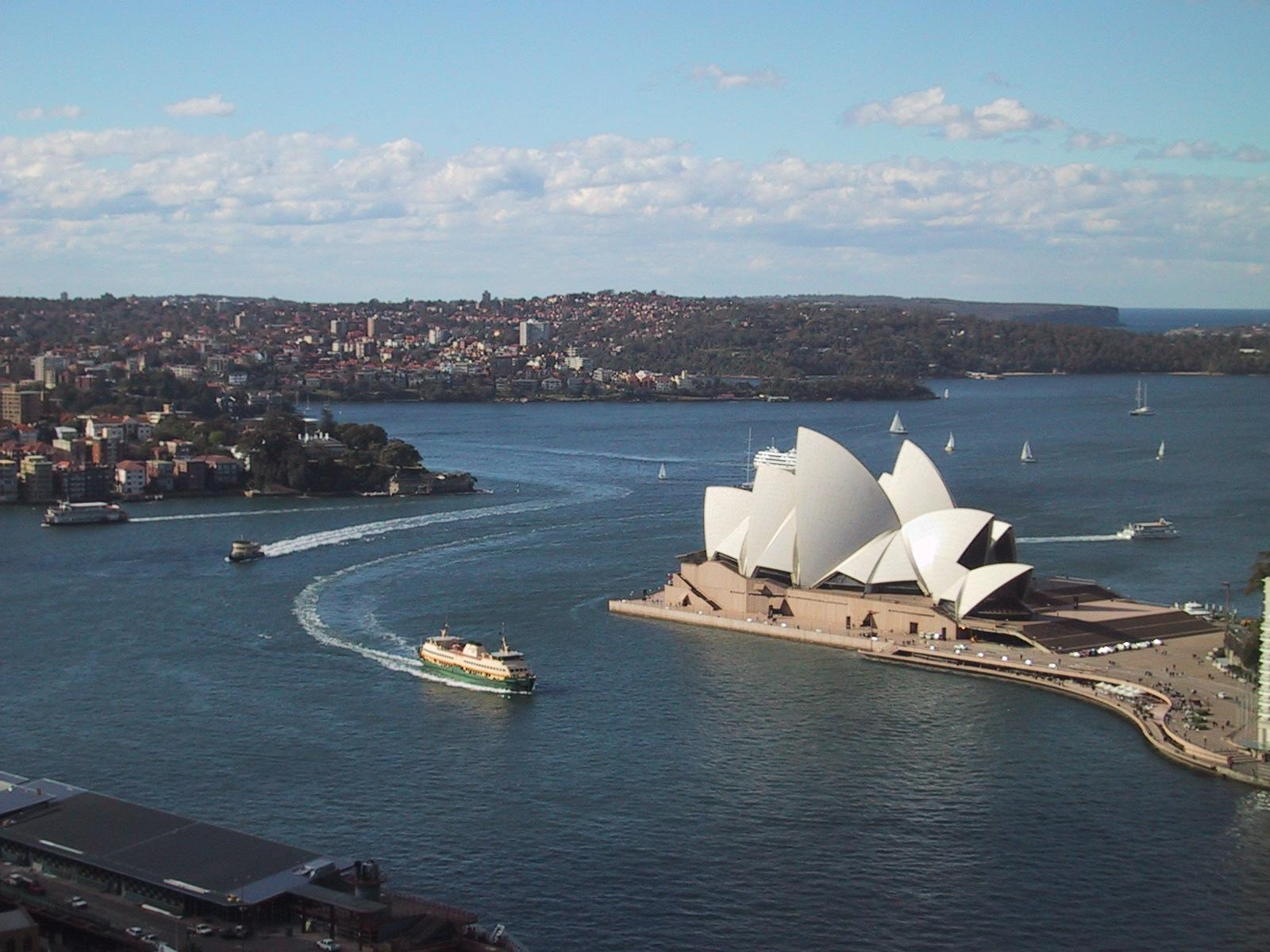 sydney opera house from room in ana hotel author greenspun philip