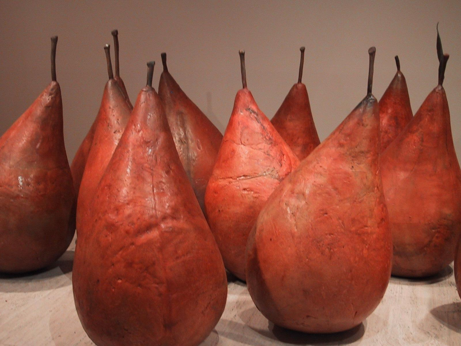 person sized pears at the art gallery of new south greenspun philip