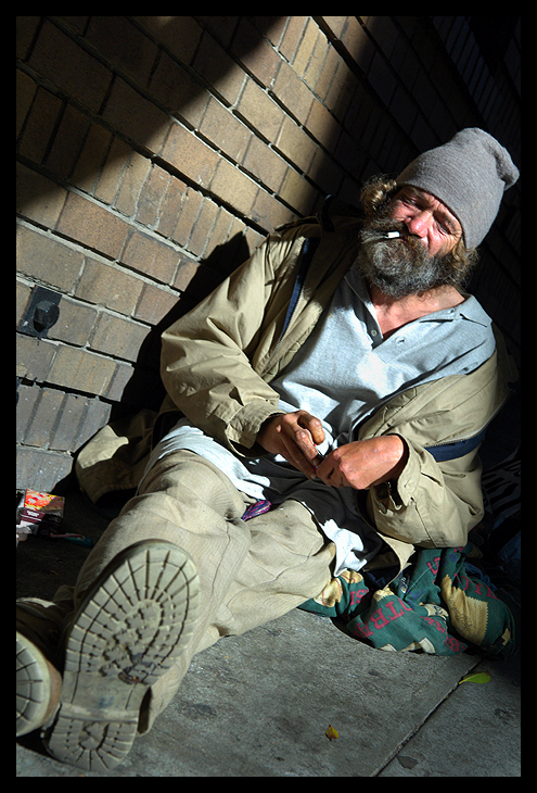 homeless man author walker clay