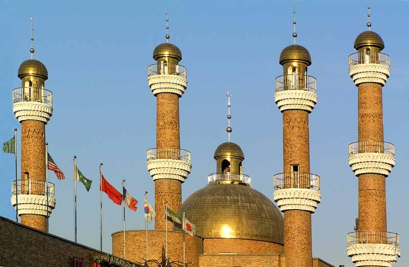 contemporary minarets in urumqi nw china author d downs jim