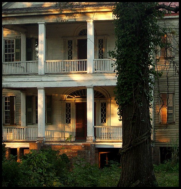 old house at sunset fall author kelly landrum