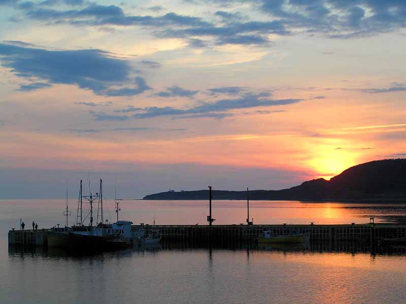 sunset on rocky harbour s harbor author downs jim