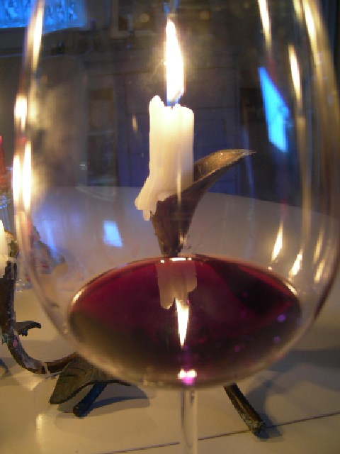 wine glass with candles author dreizler bob