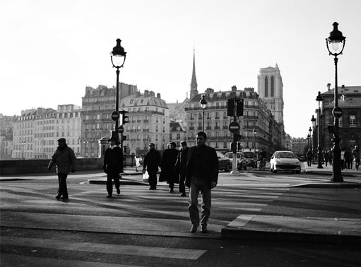 on the way to work paris author baker harry