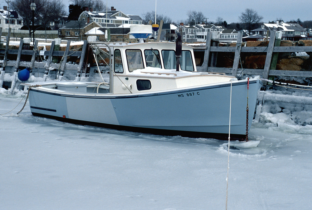 lobster boat iced in author mello phillip