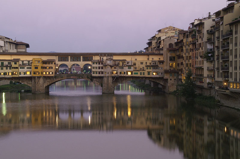 firenze ponte veccio at sunset author henschel hans