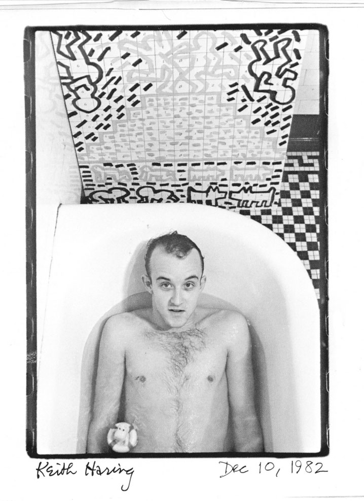 keith haring artist portrait photographed in new y herron don