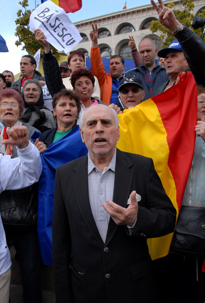 a rally in support of the president romania mr ursu mihail
