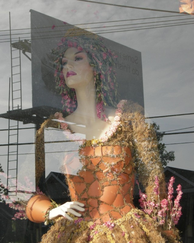 mannequin on billboard author dreizler bob