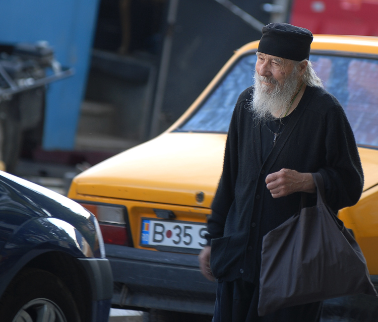 a priest or other religious person on the streets ursu mihail