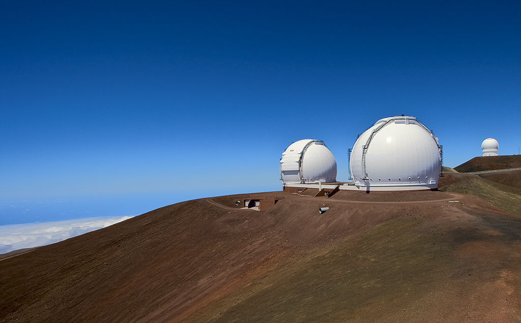 the domes of keck on mauna kea hawaii with can bryson steve