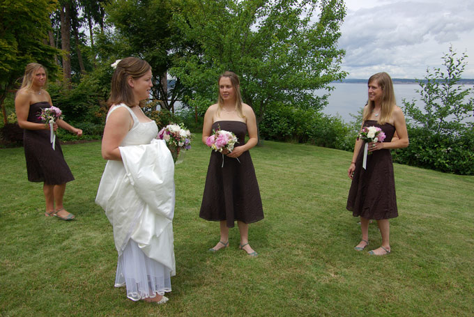 bride and maids in backyard author root josh