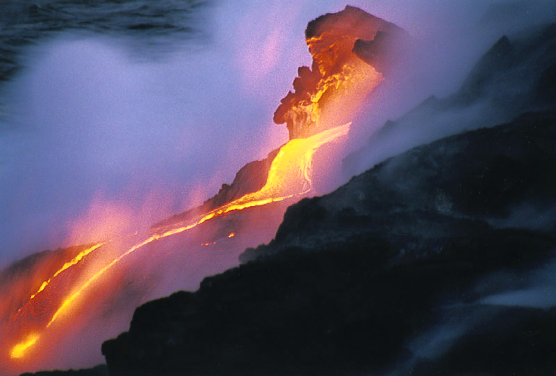 lava flowing into the ocean author bryson steve
