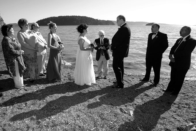 ceremony on the beach tide coming in author root josh
