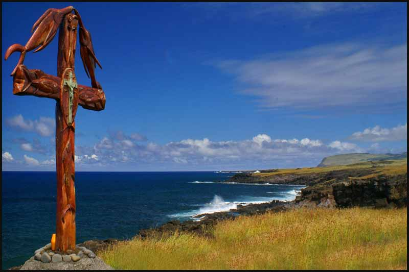 seafarers monument on south coast of easter island downs jim