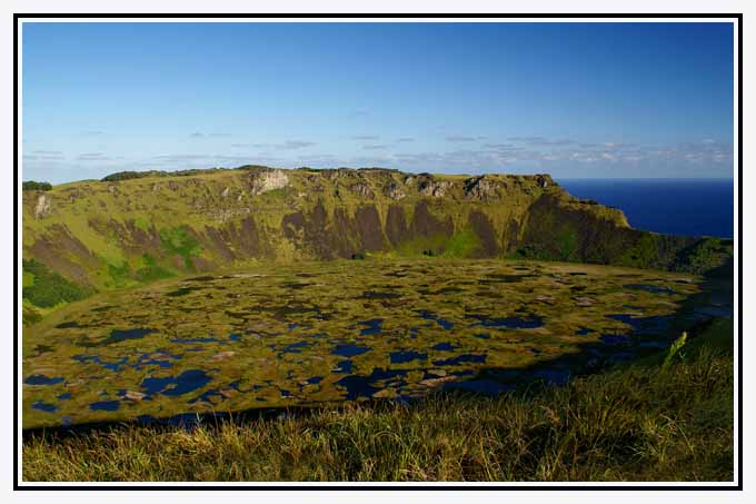 rano kau crater on easter island author downs jim