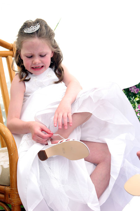 a flower girl struggles with her shoe author roo root josh