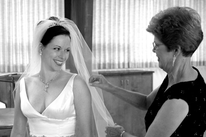 mother looks at the dressed bride author root jo josh