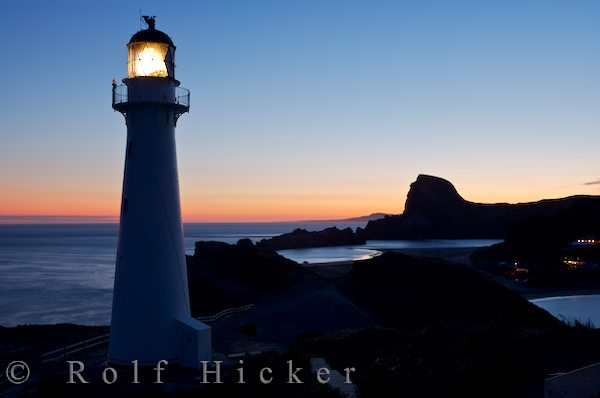 sunset at castlepoint lighthouse author hicker ro rolf