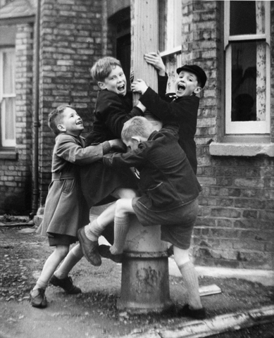 boys on a lampost an older picture published in ph peri john