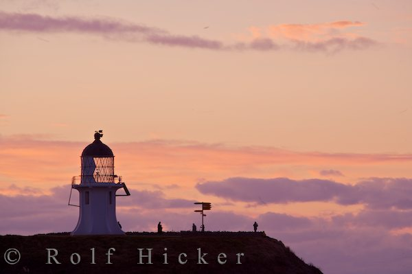 sunset at cape reinga and lighthouse n hicker rolf