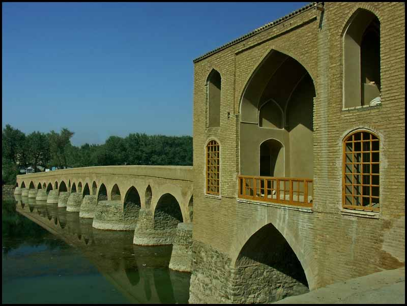 one of the ancient persian bridges at isfahan au downs jim