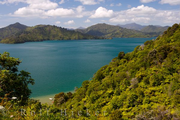 queen charlotte sound seen from dr hicker rolf