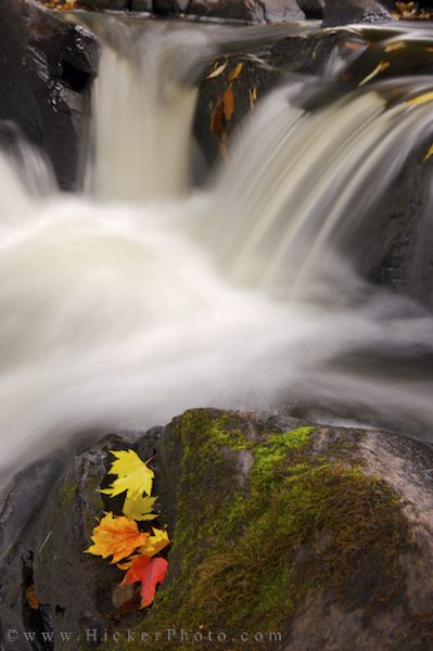 waterfall along the restoule river in town of hicker rolf