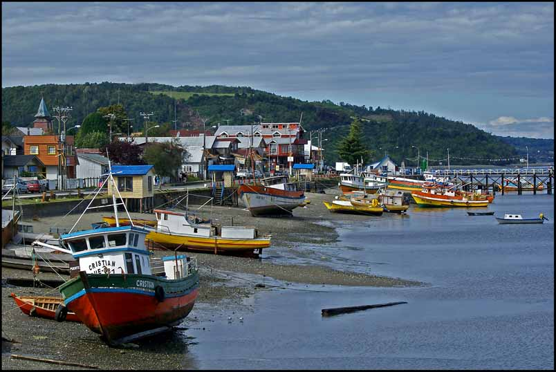 low tide at a chilean fishing village author down downs jim