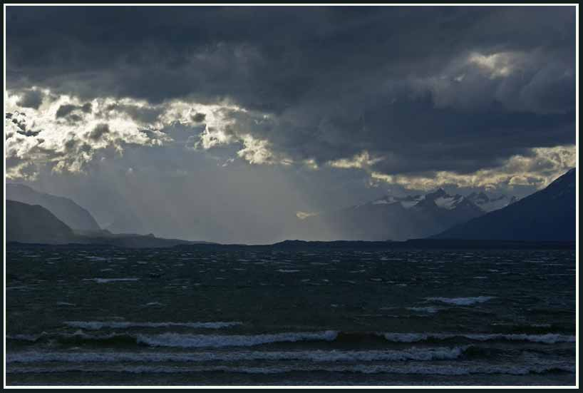 evening storm over pto natales author downs jim