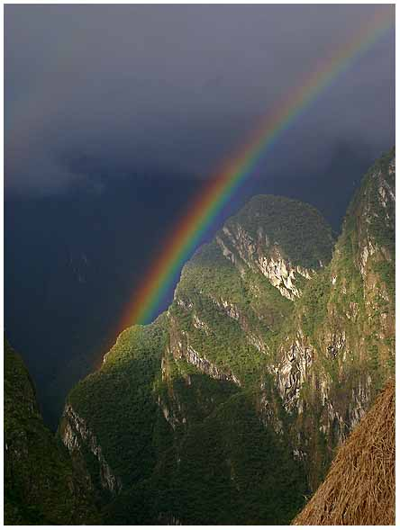 rainbow below machu picchu author downs jim
