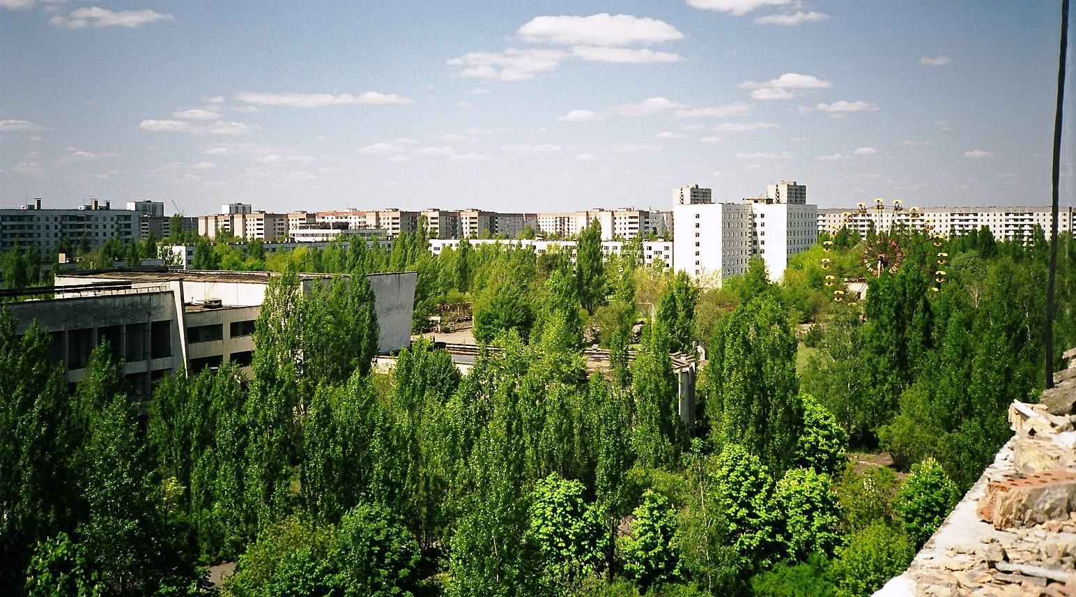 view from an apartment balcony pripyat author ran rance ian