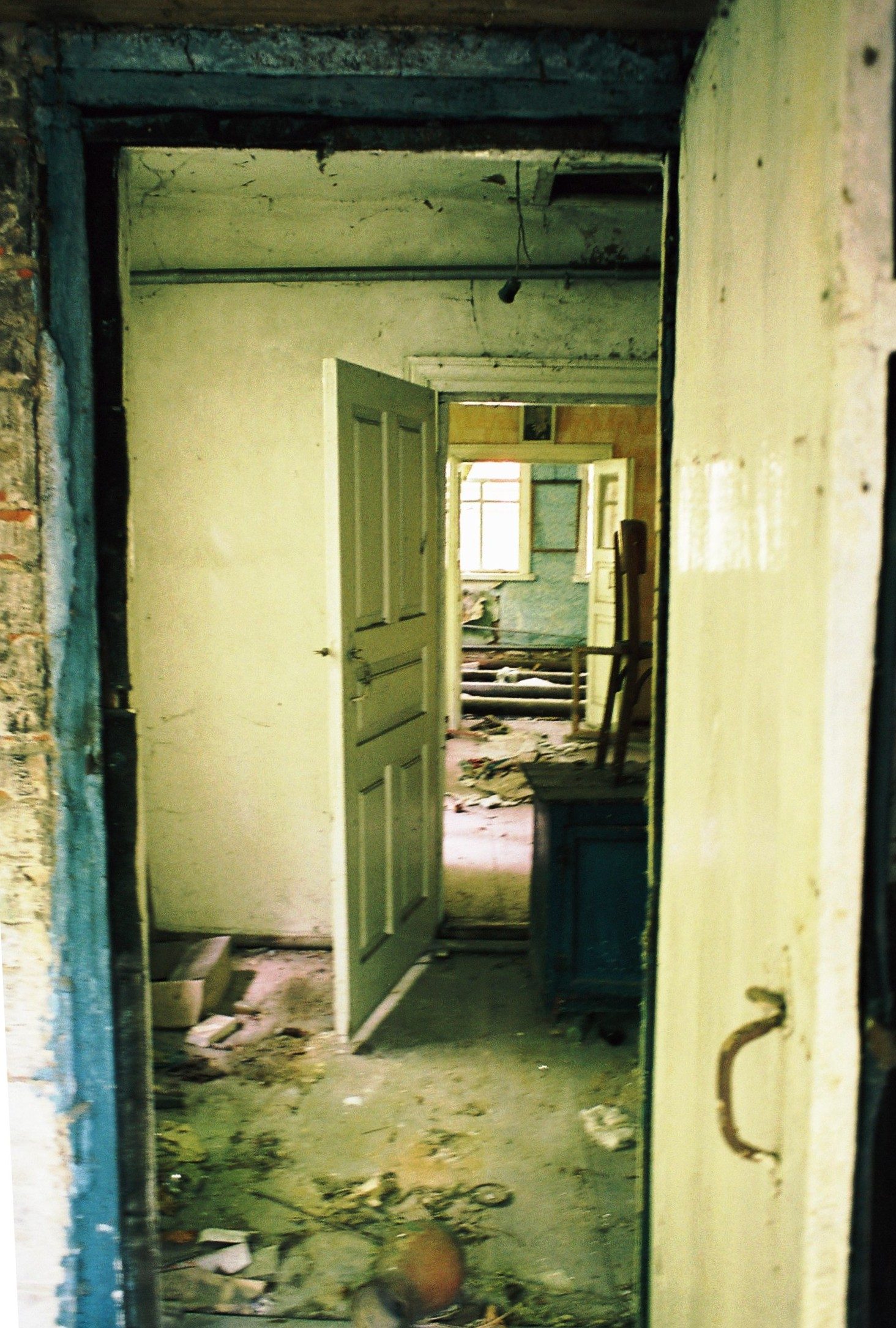 looking into an empty home in abandoned village rance ian