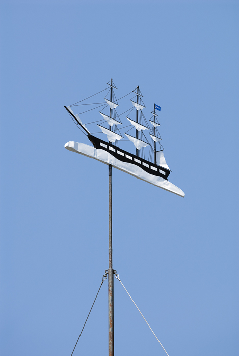 newly restored weathervane lat n long w a mello phillip