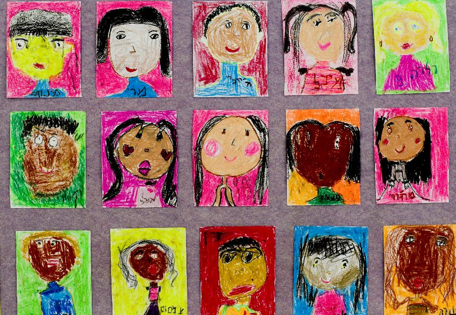 refugees children painting themselves author even evental pnina