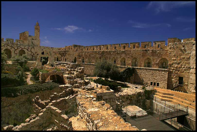 interior of the citadel in old jerusalem author d downs jim