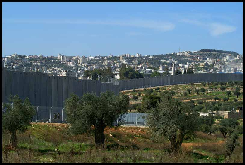 the israeli wall separating israel from west b downs jim