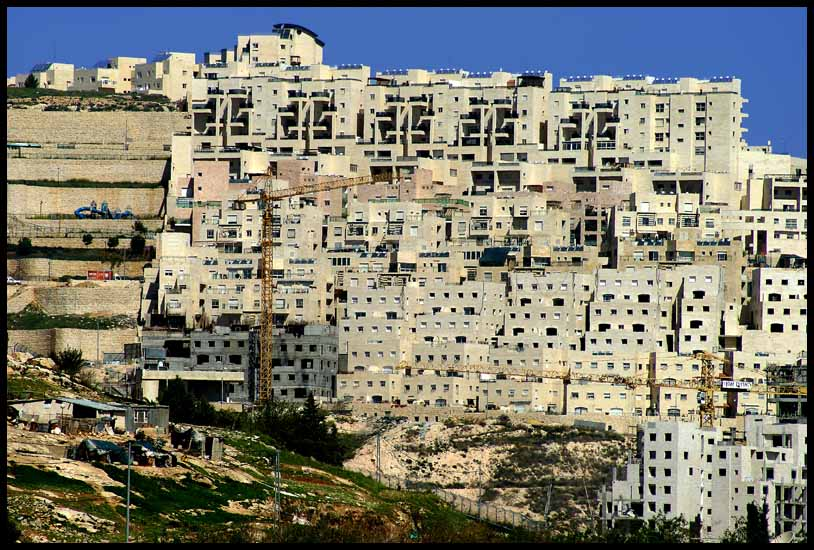 israeli settlement stacked above palestinian apart downs jim