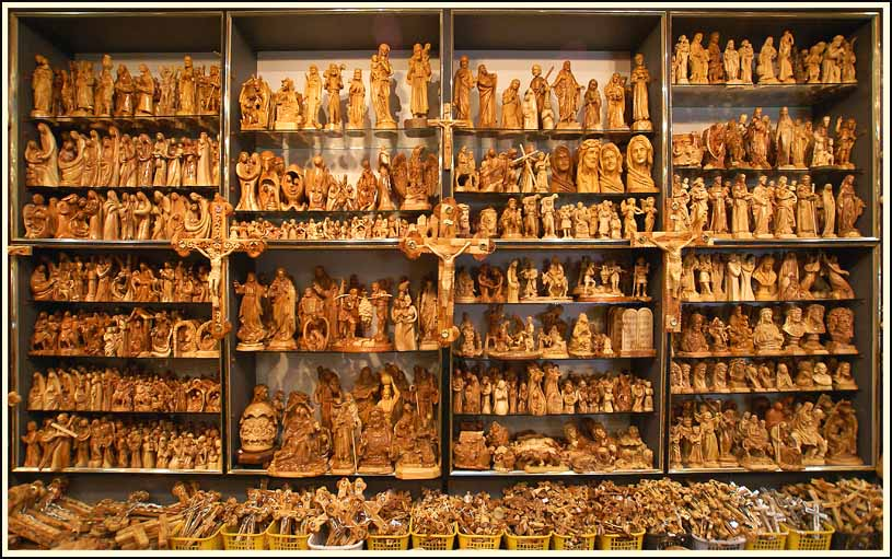 woodcarvings in a bethlehem souvenir shop author downs jim
