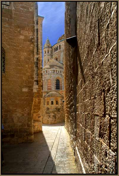 pathway to the church of dormition in jerusale downs jim