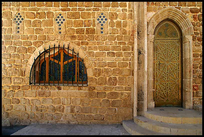 mosque entrance in port city of jaffa israel aut downs jim