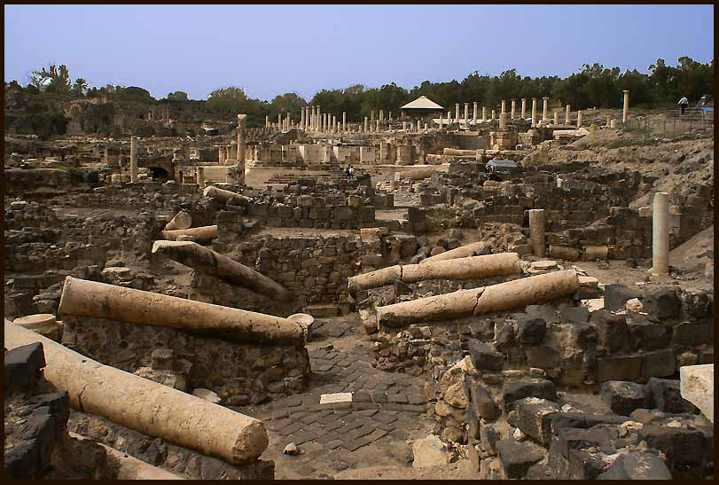roman ruins at beit she an author downs jim