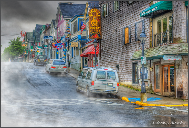 foggy bar harbor morning author gutowski anthony