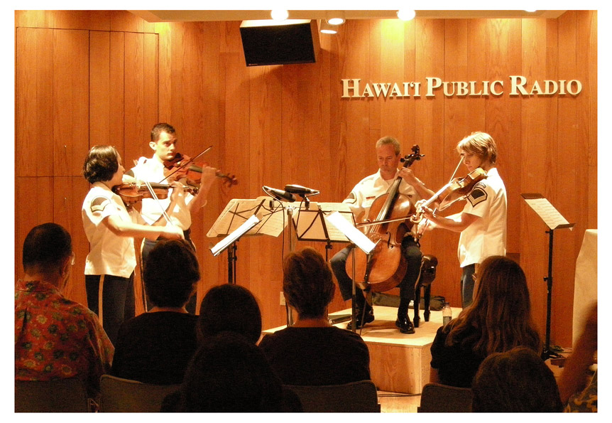 army string quartet visits from nation s capital siegel honolulu gerry