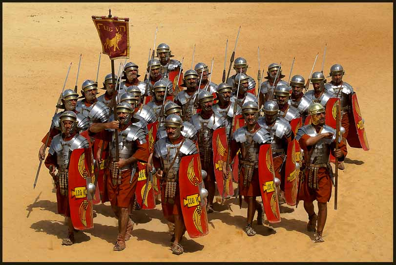 roman legionnaire reenactment in the jordanian des downs jim