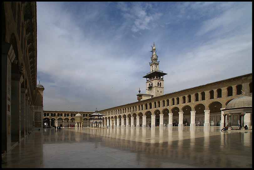 courtyard of the omayyad mosque damascus author downs jim