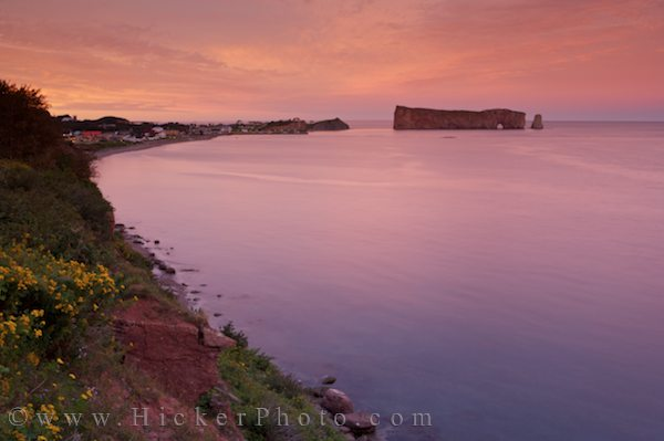 sunset over perce rock on the gaspesie peninsula i hicker rolf