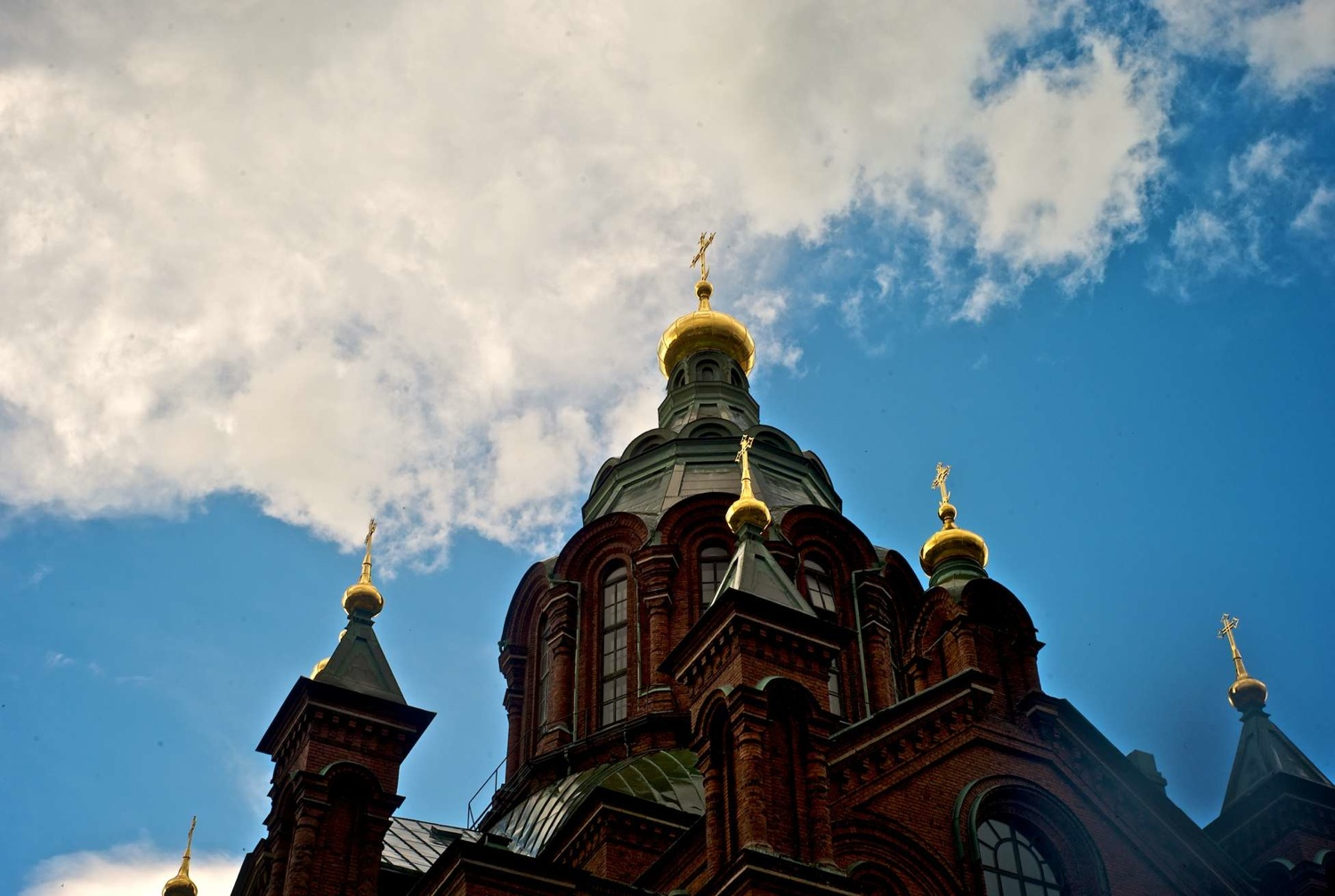 clouds play around the church author soini hannu